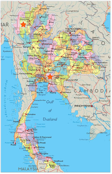 Thailand Tour Map